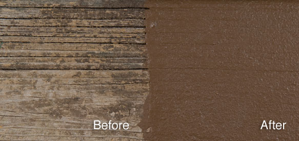 Deck revive wood deck coating sealant for Best deck paint for old wood