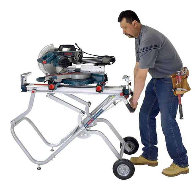 Light Stand Menards: Bosch Gravity-Rise Wheeled Miter Saw Stand