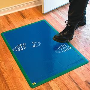 sticky walk off mat 24 x 36 adhesive mat 30 pages per mat polytak ptaksm302. Black Bedroom Furniture Sets. Home Design Ideas
