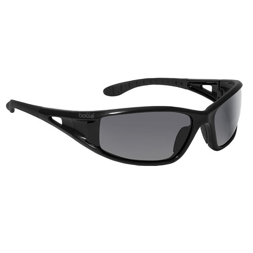 Bolle Lowrider Safety Glasses with Shiny Black Frame and ...